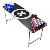 Beer Pong Tisch Set - Audio Table Design - 6 ft Beer Pong table inkl. 6 Bälle, 50 SOLO Red Cups und Regelwerk - 1