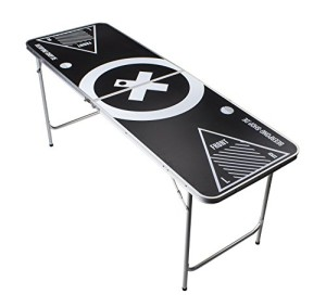 Beer Pong Tisch Set - Audio Table Design - 6 ft Beer Pong table inkl. 6 Bälle, 50 SOLO Red Cups und Regelwerk - 3